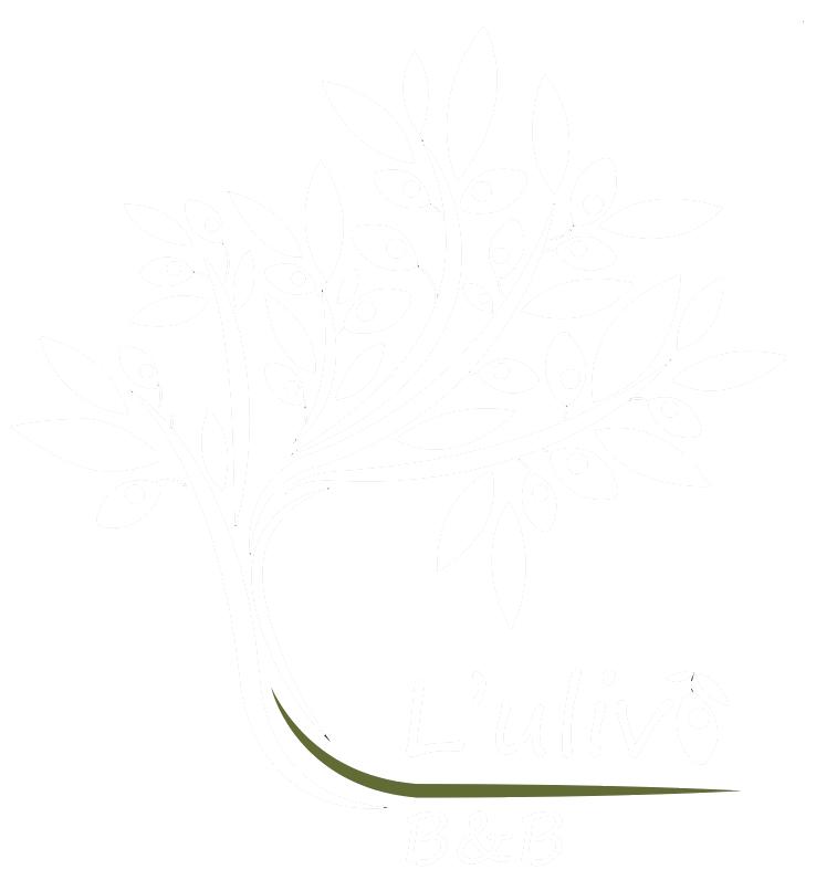 logo bianco del b&b l'ulivo